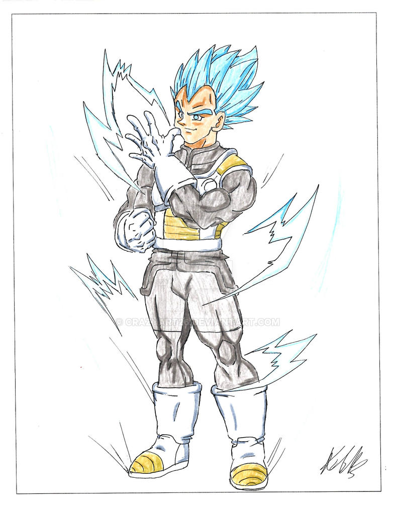 Vegeta super saiyan god super saiyan by crazyart26 on - Dessin de vegeta ...