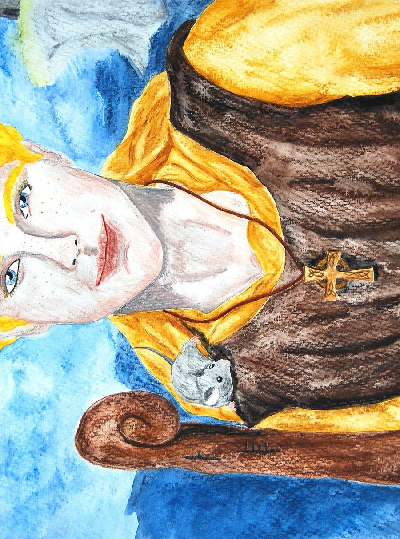 Saint Cainneach of Aghaboe by RowanLewgalon