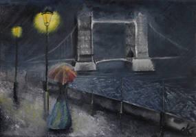 -+-Still waiting in rainy London-+- by TalviEnkeli