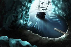 Sea cave by TalviEnkeli