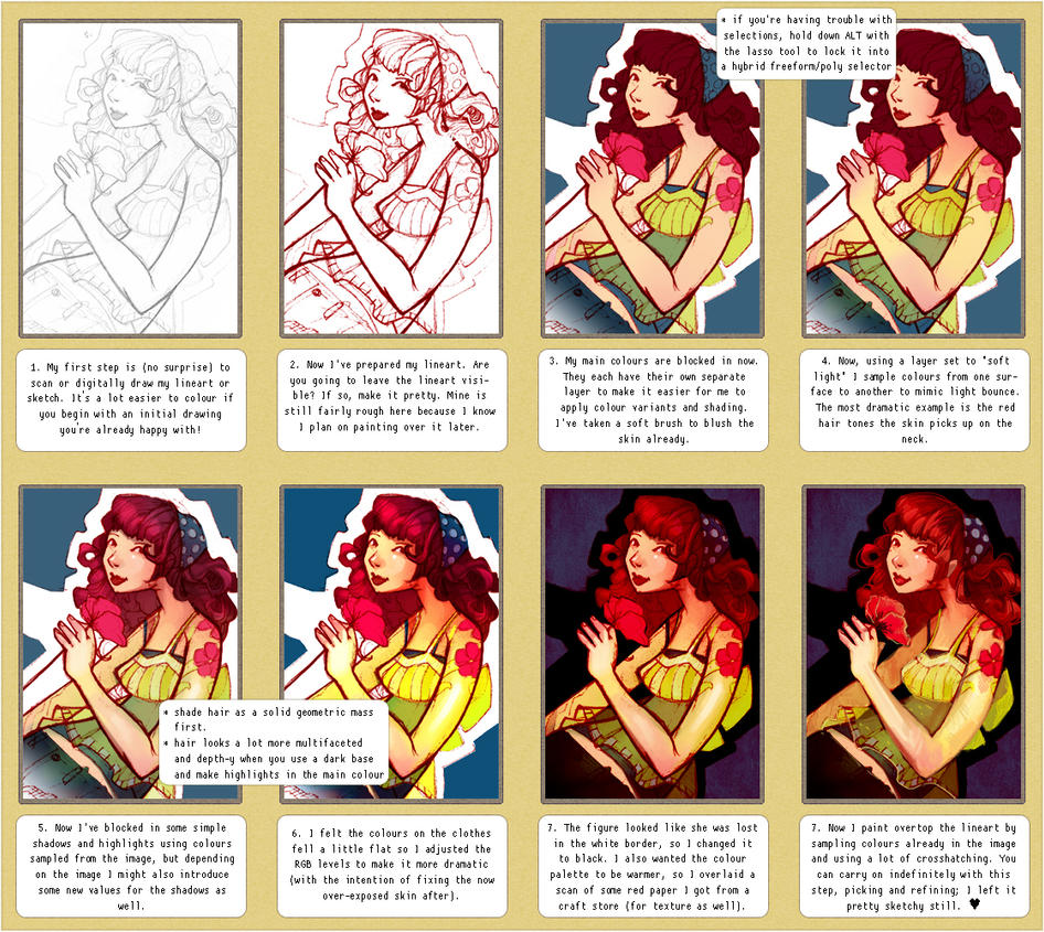 digital colouring tutorial by glittervolt on DeviantArt