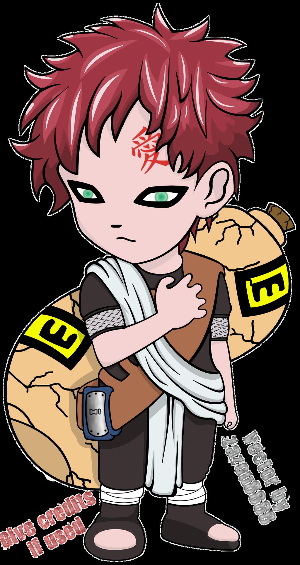 Vector : Chibi Gaara by Zazou8888 on DeviantArt Gaara And Naruto Chibi