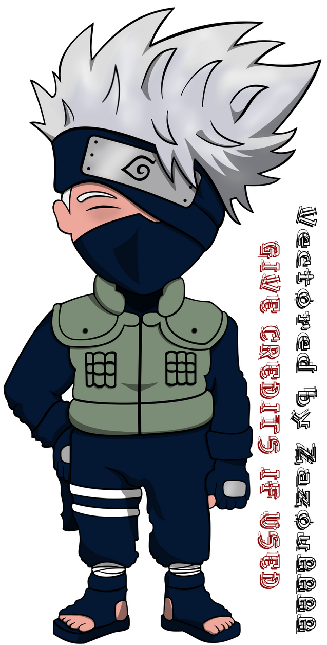 Vector : Chibi Kakashi by Zazou8888 on DeviantArt