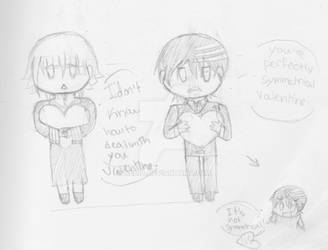 Soul Eater Valentine: Crona and Kidd