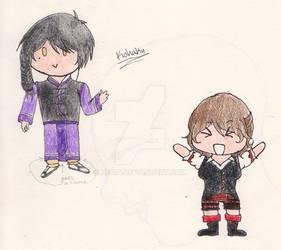 Kohaku and Linden chibis