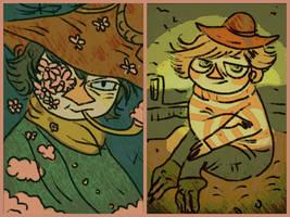 moomin doodles by Mebuu