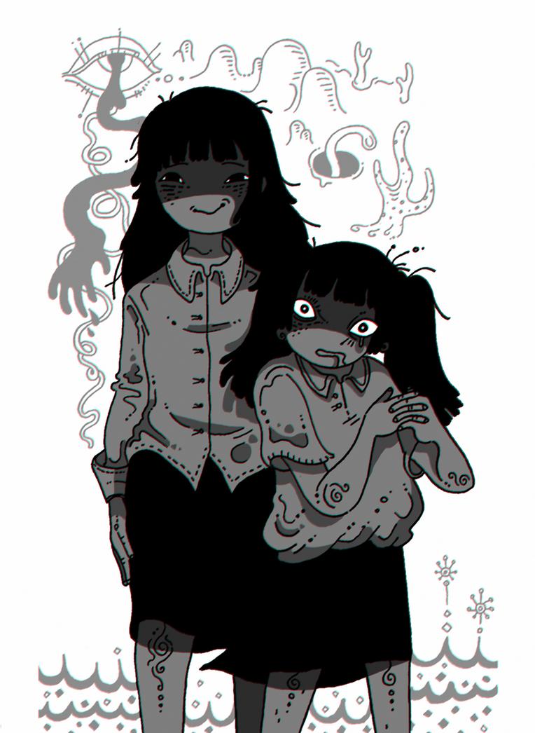 Monochrome Sisters by Mebuu