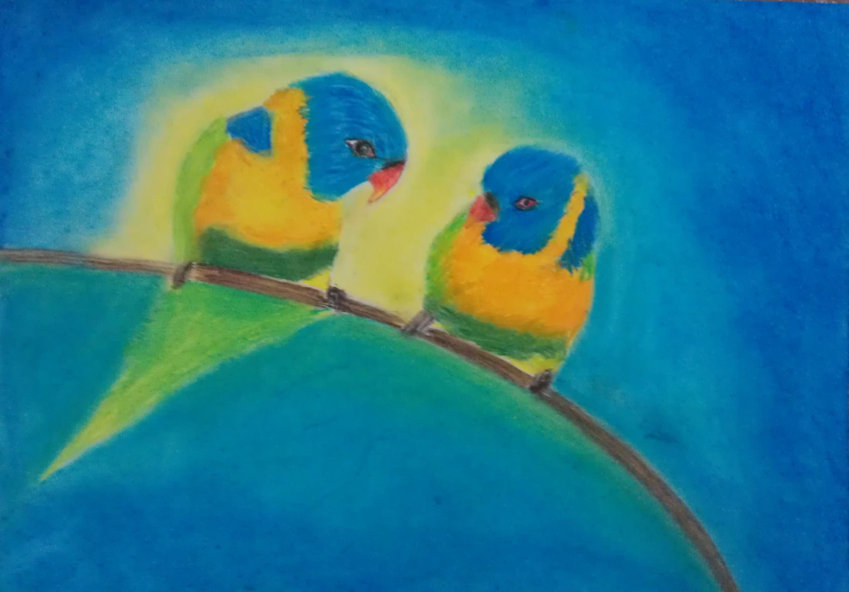 Birds Soft Pastels by amreenv on DeviantArt