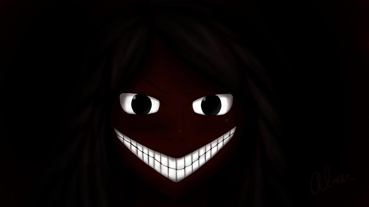 Creepy anime smile