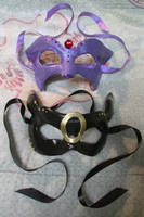 Espeon and Umbreon Masquerade Masks by Draconic-Angel