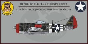 Republic P-47D-25 Thunderbolt 61st FS / 56th FG