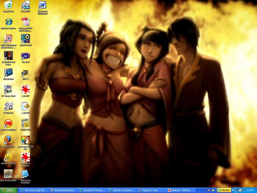 Firetastic Four Desktop by swan-swan