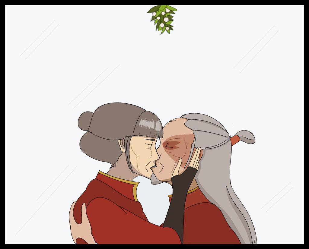 Mai and Zuko's Mistletoe by swan-swan on DeviantArt