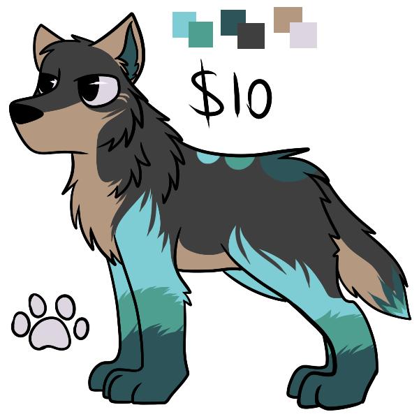 Mt Wolf adopt $10 by Suicidal-DaRk