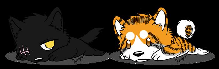 Rokyu and Raiko - Badges