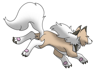 Fleeing Lycanroc