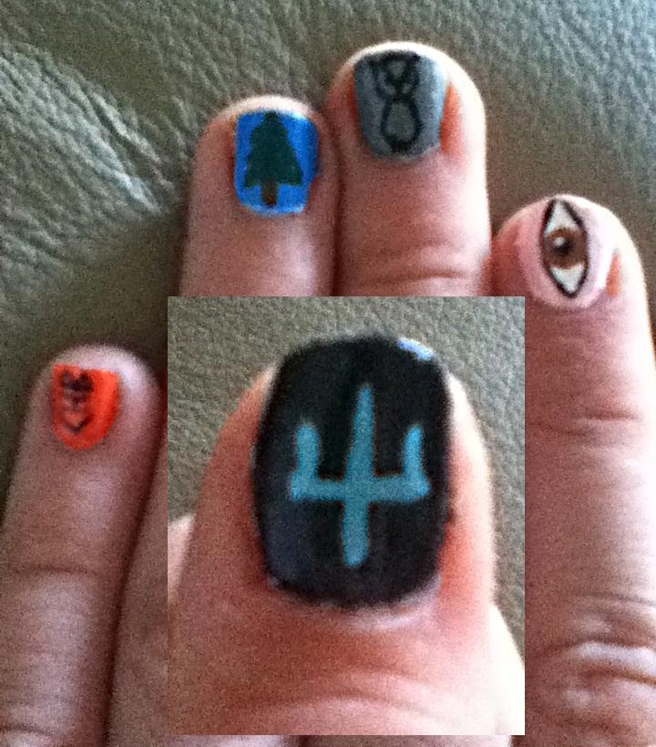 Percy Jackson Nails By Lafishy On Deviantart Percy Jackson Nails by Lafishy on DeviantArt Nail Art nail art on jackson