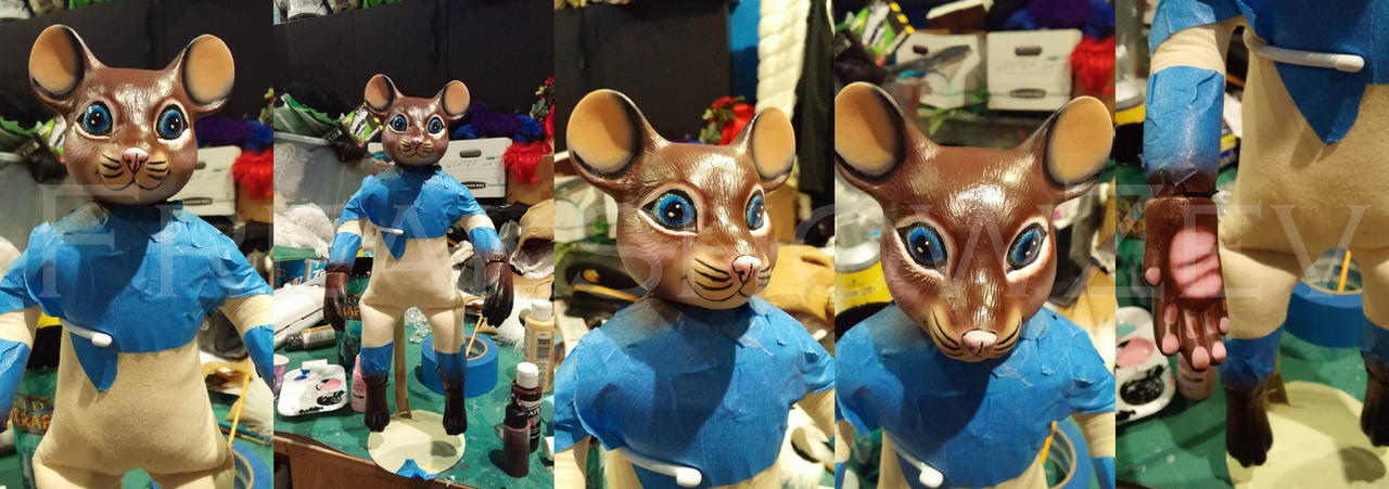 Custome made Ceramic Fursona style doll by BangBangNeko