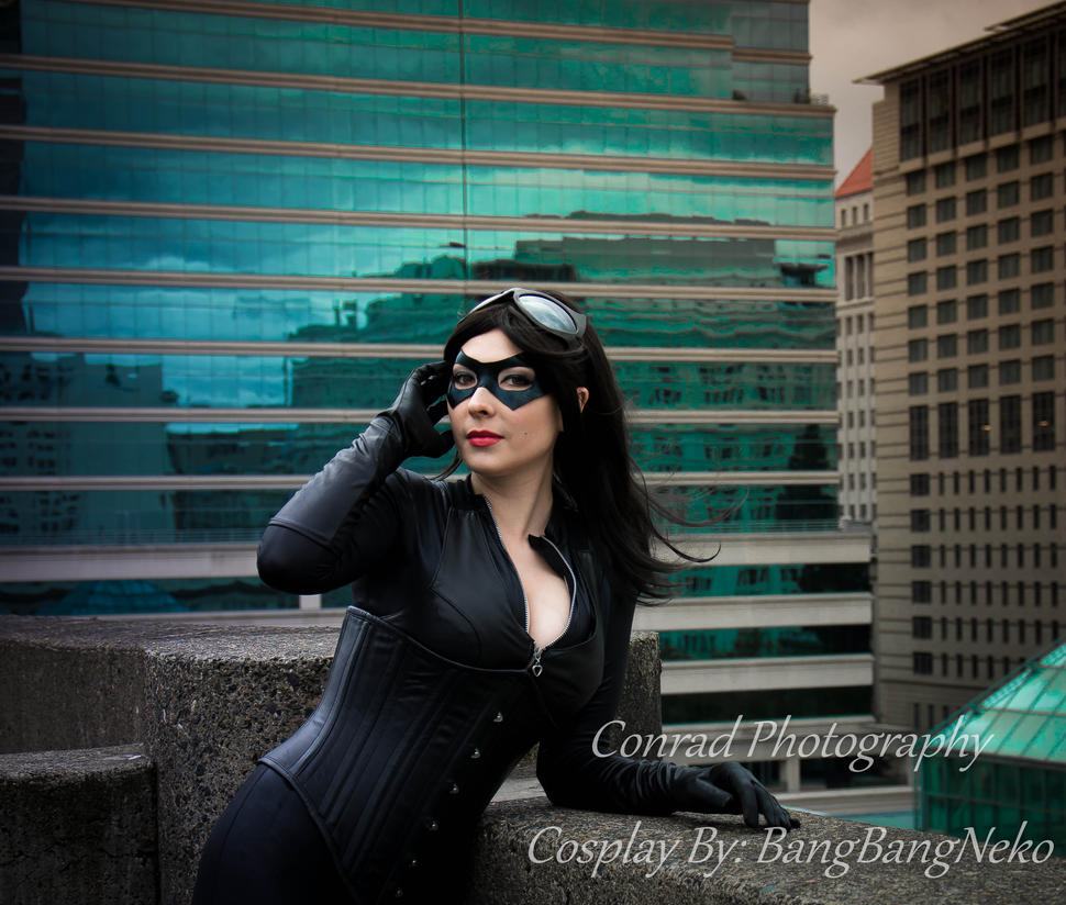 Revamped Catwomen on the rooftop by BangBangNeko