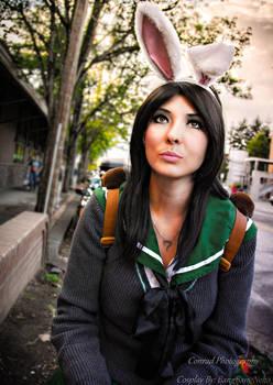Bunny School Girl Stylized photo