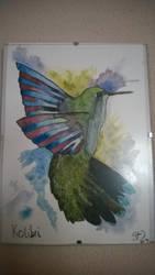 Kolibri / Hummingbird (Aquarell/ Watercolor) by SolutionFinal