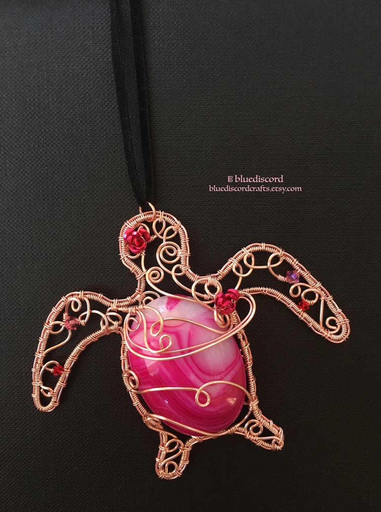 Sea Turtle Gemstone Pendant by bluediscord