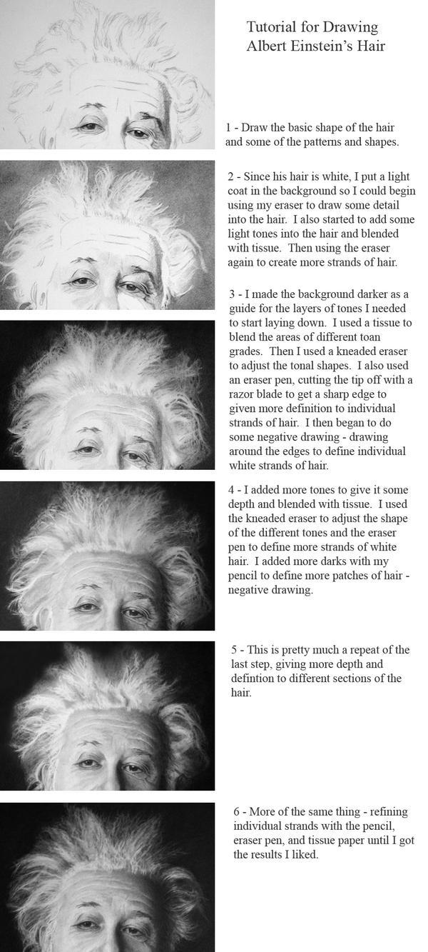 Albert Einstein Hair Tutorial by jjkiefer