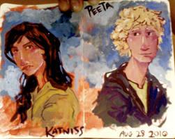 Katniss+Peeta by bunnychan13