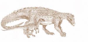 Scelidosaurus, Scutellosaurus by Kahless28