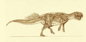 Psittacosaurus major by Kahless28