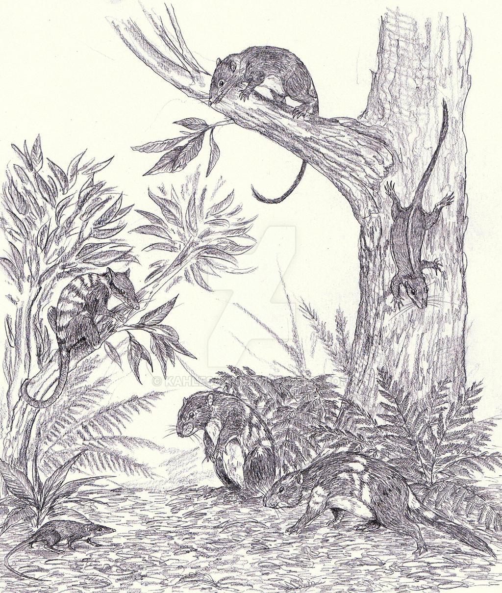 Cretaceous mammals by Kahless28