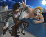Mikasa Ackerman vs Porco Galliard