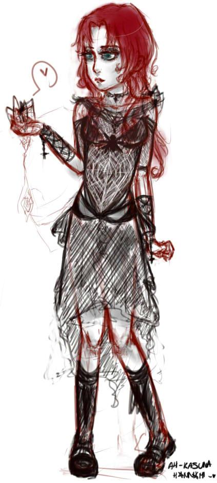 goth girl WIP by Hannami94