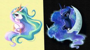 Wallpaper Luna Celestia