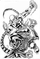 Alien vs. Riddick by SlyAguilar