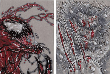Carnage and Wolvie by SlyAguilar