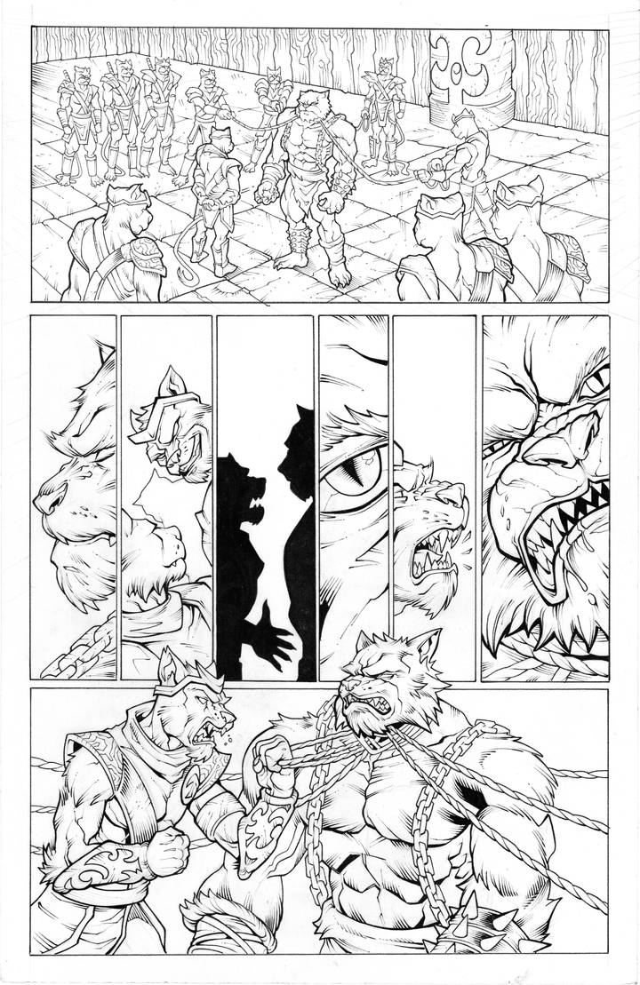 Battlecats page 1 by SlyAguilar