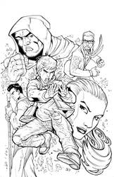 The Agency issue 6 cover inks