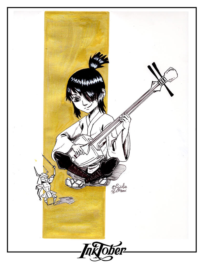 Inktober 2016: Day 01 - Kubo and the Two String by crazydiary86
