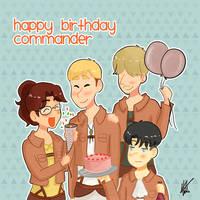 Happy Birthday Commander! by nyatche
