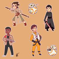 Chibi Star Wars by nyatche