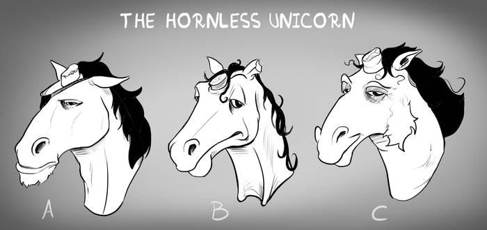 Hornless unicorn