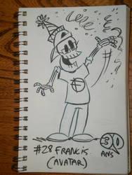 Defidessins 30ans: #28 francis (avatart) by SuperSaf