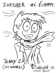 Inktober2019: #06 Jenny 2.0 (les nombrils)