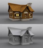 3D medieval farm by phil7777