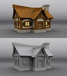 3D medieval farm