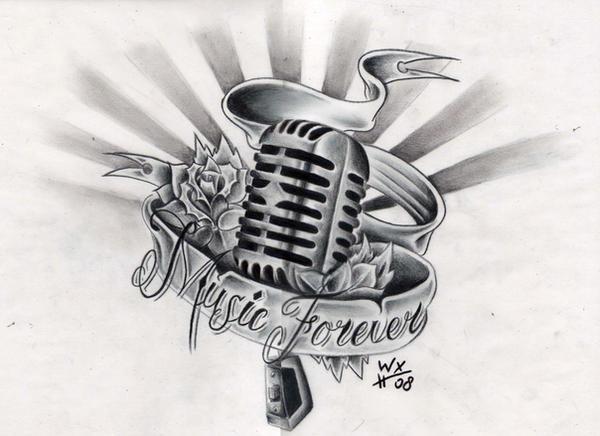 Music tattoo designs on wrist