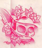 girly skull sketch by WillemXSM