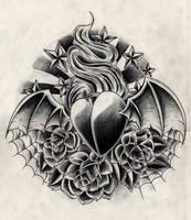black n grey heart by WillemXSM
