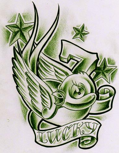 Green lucky 7 birdy Green TONY